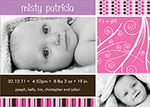 girl photo birth announcements