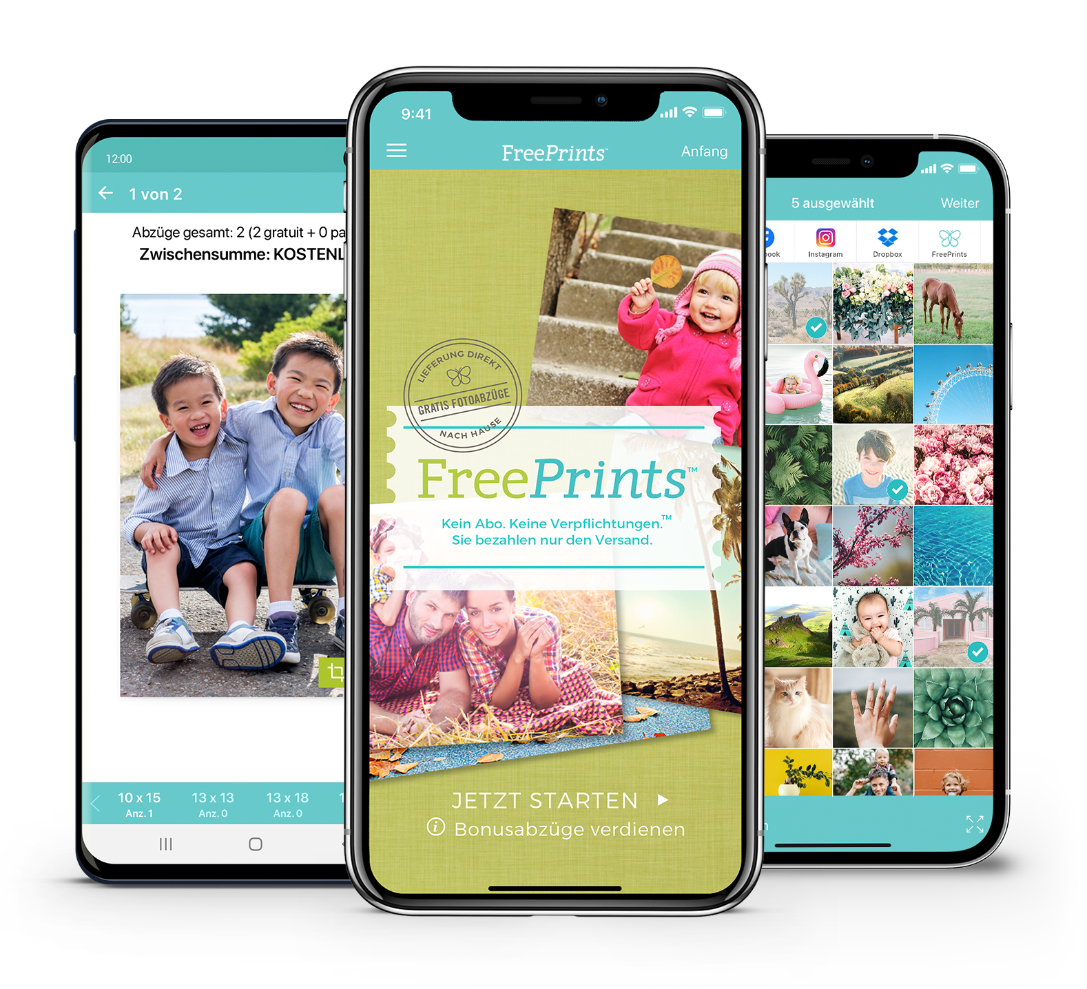 FreePrints für iPhone und Android