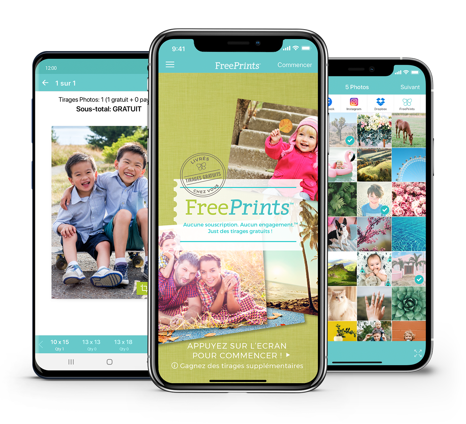 FreePrints pour iPhone et Android