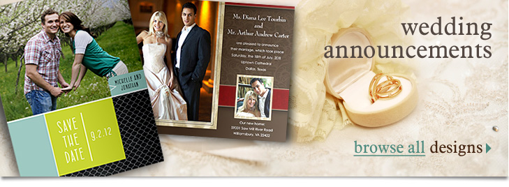 Photo Wedding Announcements